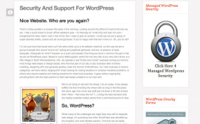 WordPress Security support-4-wordpress